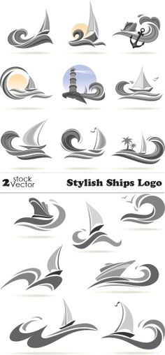 Vectors - Stylish Ships Logo