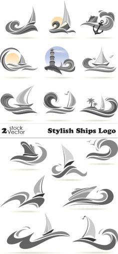 Vectors - Stylish Ships Logo