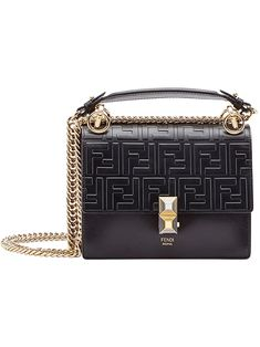 24f9fd42ec6b Fendi Black Kan I Small Leather Shoulder Bag. Fendi PursesFendi BagsFendi  ...