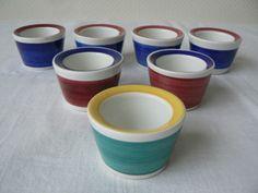 7 x Rorstrand Sweden Egg Cups Picknick Marianne Westman 1950's No 117 Modern | eBay