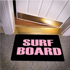SURF BOARD BEYONCE INSPIRED BEDROOM CARPET BATH OR DOORMATS