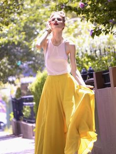 White and yellow  #maxi