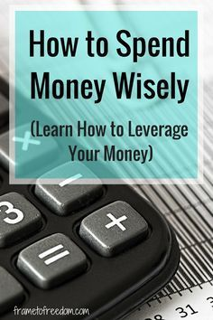 Have you ever thought about how to spend money wisely or how to make your money work for you? This post has great tips on how to spend money well.
