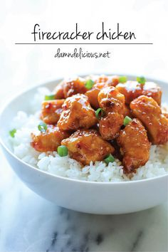 Firecracker Chicken - The most amazing combination of sweet and spicy flavors that tastes a million times better than take-out!