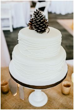 Like the white on white cake.....  A Rustic Winter Wedding by Jen Yuson Photography