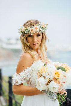 boho bride, flowers by Hartworks Floral Design