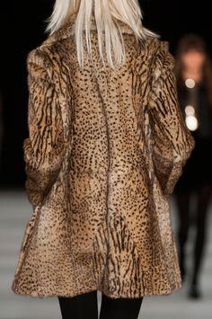 hautekills: Saint Laurent f/w 2014 Leopard Fashion, Fur Fashion, Animal Prints In Fashion, Saint Laurent Paris, Winter Wear, Fall Winter, Autumn, Cheetah Print, Leopard Prints