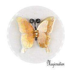 BRELOQUE PAPILLON 3D DORE - Boutique www.magicreation.fr