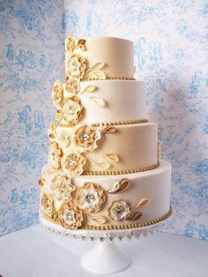 50th anniversary cake - by Corrie @ CakesDecor.com - cake decorating website