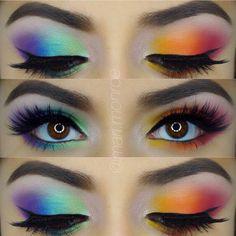 Pastel Makeup Rainbow EyeShadow- The Dreamiest Ways to Wear It. Ra… Pastel Makeup Rainbow EyeShadow- The Dreamiest Ways to Wear It. Shimmer Eyeshadow Palette, Bright Eyeshadow, Eyeshadow Makeup, Makeup Brushes, Orange Eyeshadow, Eyeshadow Looks, Best Colorful Eyeshadow Palette, Makeup Remover, Nyx Brights Palette