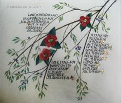 21st Century original calligraphy art of Bible Verse 1 Corinthians by Dave Wood.  Now available as a mounted print $39