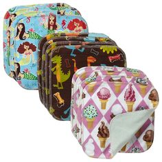 Kissa's Premium Organic Cotton Wipes 12pk - Cloth Wipes for Cloth Diapers