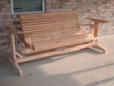 Wooden Porch Glider