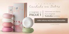 Sabonete em Barra Puro Vegetal Sortidos Tododia - 6 und de 90g cada  http://rede.natura.net/espaco/divacaldas  Promoção válida até 21/08/16