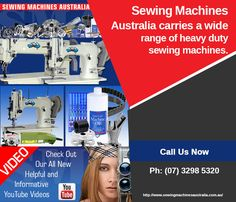 Sewing Machines Australia is an Australia owned and operated business that supplies heavy duty sewing machine across the country. Offered industrial sewing machines cater for diverse commercial needs, right from making garments to stitching canvas, leather and upholstery fabric. Also, we can come to your avail in case you need service or repair assistance for your sewing machine.
