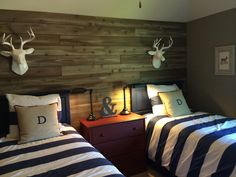 Boys room-bedding, pillows w/ boys initials