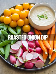 A recipe for Roasted Onion Dip.