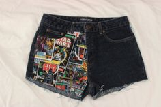 High Waisted Comic Book/ Star Wars Shorts by ThreadsByKelly, $30.00 #starwars #shorts #clothes #highwaistedshorts