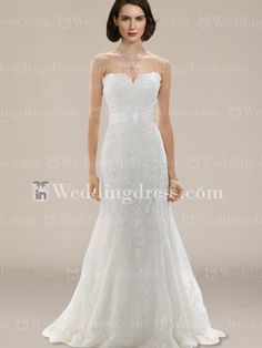 Strapless Mermaid Style Wedding Dress with Lace Appliques   http://www.inweddingdress.com/style-bc083.html