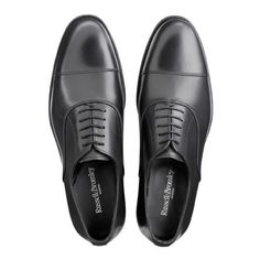 more photos 399fa a3d7b BORIS Lace-Up Oxford in Black Leather