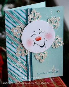Inspired Paper and ink: More painted Snowman Cards!