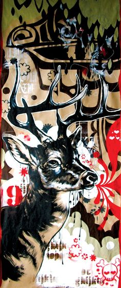deer Blaine Fontana Ap Studio Art, Art Programs, 2d Art, Artist Painting, Graphic Design Art, Art Studios, Urban Art, Painting Inspiration, 3 D
