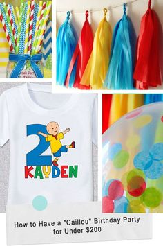 """How to Have a """"Caillou"""" Birthday Party for Under $200 #toddler #kid #birthday #party"""