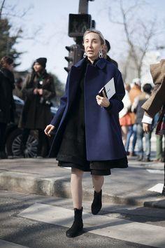 Fotos de street style en Paris Fashion Week: Carla Sozzani