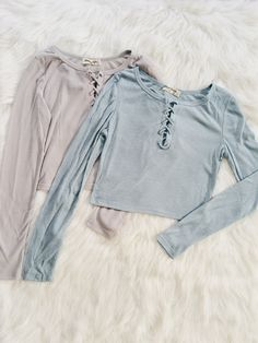 Francesca Ribbed Lace Up Tops Fall Outfits, Casual Outfits, Summer Outfits, Cute Outfits, Fashion Outfits, Womens Fashion, Leila, Moda Casual, Fashion Killa
