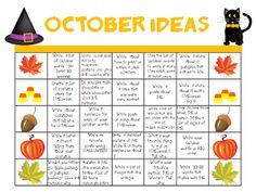 October Writing Freebie!