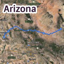 Arizona Route 66 Map
