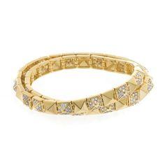 Wrap Pyramid Bracelet By Noir Noir Jewelry, Fashion Jewelry, Cherry On Top, Sarah Jessica Parker, Style Snaps, Lady Gaga, Solid Brass, Rihanna, Madonna