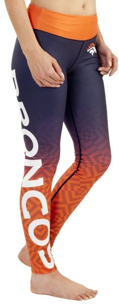 NFL Women's Gradient Print Leggings the perfect gift for a die hard Broncos girl!