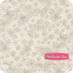 Holiday Accents Classics Gray Small Falling Snowflakes Yardage SKU# 0780-01