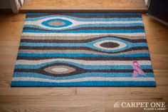 Tree Bark | Pink Ribbon Welcome Mats