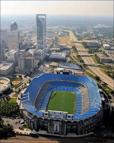 Bank of America Stadium; home of the Carolina Panthers