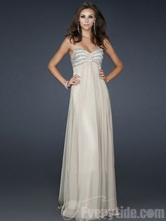 Wholesale Sweetheart Princess Chiffon Sequined Floor-length Nude Prom Dresses