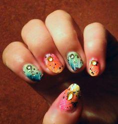 Summer Design  #nails  #polish  #bornprettystore  #glitter  #bling  #rhinestone