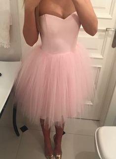 Pink Short Tulle Lovely Formal Dresses, Pink Prom Dresses, Cute Formal Dress