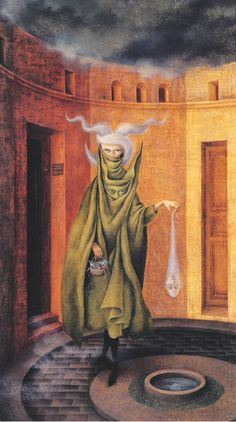 Below are selected paintings from Remedios Varo's career. I selected these because they are among her most famous works of art and my favorite pieces.The following paintings demonstrate her use of nature,women,animated objects,magic and subjects that have facial features similar to Varo herself. They are in order from her earlier paintings to her very last painting before her death.