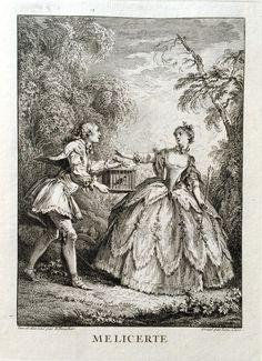 Mélicerte - Molière - gravé par Laurent CARS d'après François BOUCHER - MAS Estampes Anciennes - Antique Prints since 1898