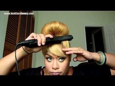 How To Create Fake Bangs Without Cutting Your Hair [Video] - Black Hair Information Community Black Girls Hairstyles, African Hairstyles, Pretty Hairstyles, Knot Hairstyles, Virgin Indian Hair, Indian Human Hair, Virgin Hair, Fake Bangs, Medium Long Hair
