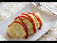 Omurice: Japanese chicken-rice-ketchup omelet