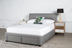 Save on the Jersey King Storage Bed Frame in Light Grey and a wide range of United Furniture products at Beds Online