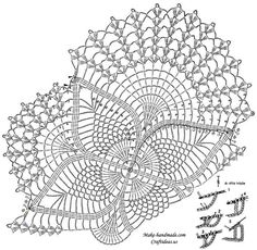 crochet lace poncho diagram