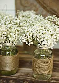 Rustic first communion party ideas jars centerpieces and flower - Centros de mesa para primera comunion originales ...