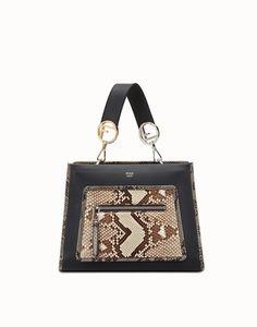 FENDI  - Exotic black leather bag