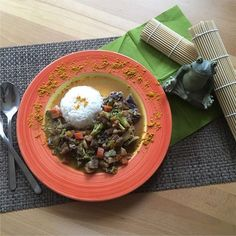 Mein Thai Gemüse Curry mit asiatischer Note! Thai Curry, Kraut, Note, Ethnic Recipes, Carrots, Meat, Food Food, Food Recipes