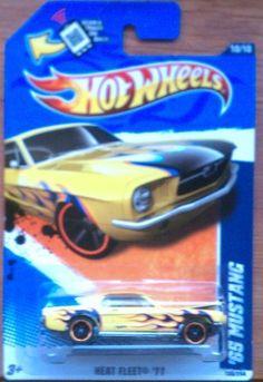 2011 Hot Wheels Heat Fleet '65 Mustang Yellow #100/244 by Mattel. $4.98. 1:64. Heat Fleet '11 Series, #10/10