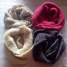 Chunky knit infinity scarves on Etsy, $15.00